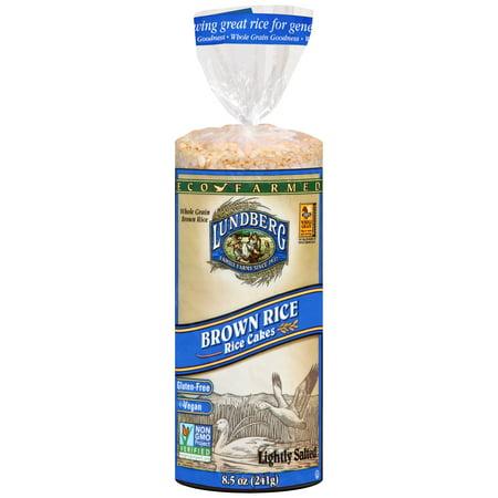 Lundberg Brown Rice Cakes Lightly Salted 8.5 oz - Vegan