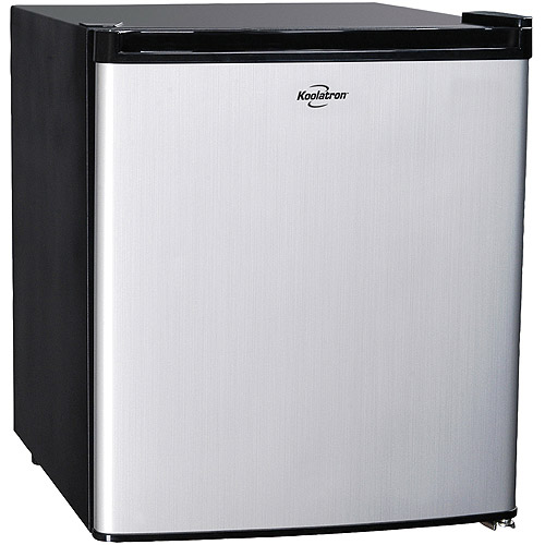 Koolatron 1.7 cu. ft. (46L) Single Door Compact Refrigerator BC46SS, Stainless Steel Look