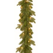 """National Tree 9' x 10"""" """"Feel Real"""" Avalon Spruce Garland with 50 Clear Lights"""