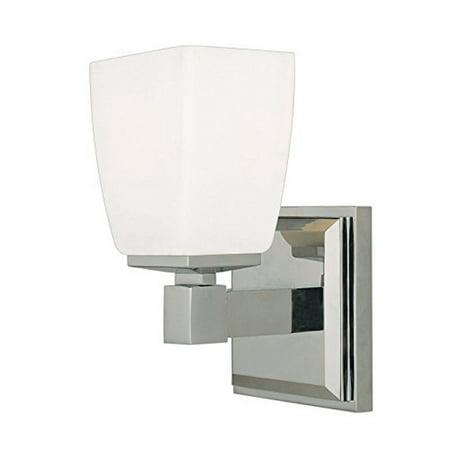 Hudson Valley Lighting Soho 1-Light Vanity Light - Polished Chrome Finish - Hudson Valley Lighting Chrome Bathroom Bulbs