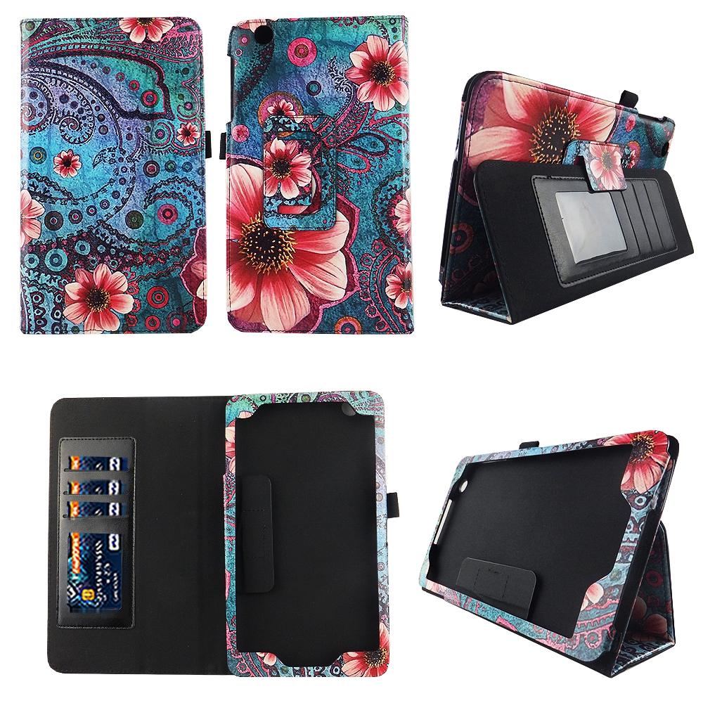 Pik Flower Vintage Fit for AT/&T Trek 2 HD Tablet Case Cover ID Slot Sleep Wake