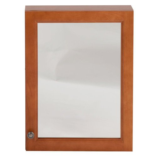 Click here to buy Chelsea 18 in. x 24 in. Surface-Mount Medicine Cabinet in Nutmeg by Woodcrafters.