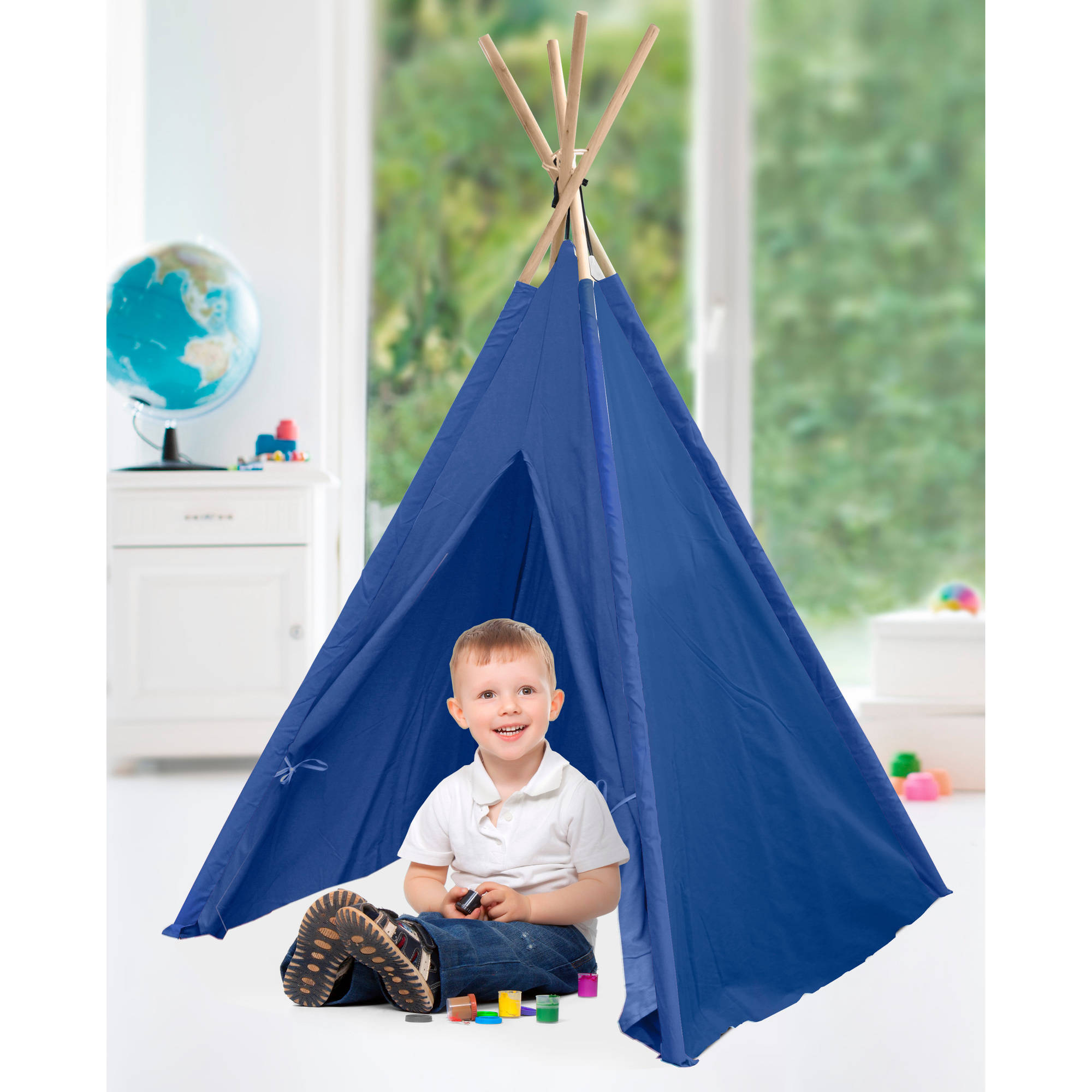 American Kids Awesome Tee-Pee Tent, Navy