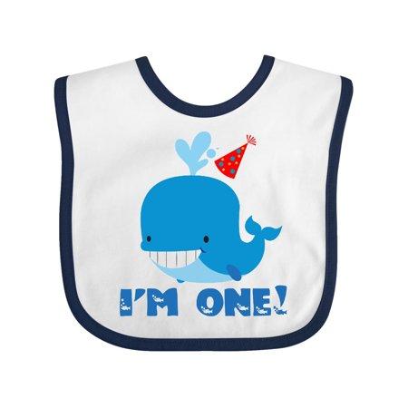 Whale 1st Birthday Baby Bib