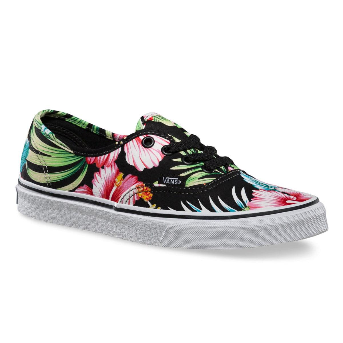 "Van/'s Toddler/'s Shoes /""Authentic/"" Blk//TWht - Hawaiian Floral"