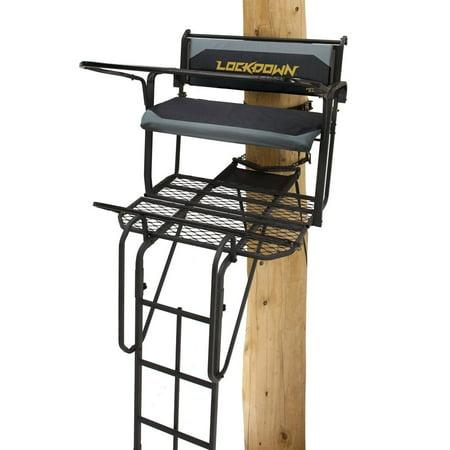 Rivers Edge RE650 Lockdown 21 Foot 2 Man Lock On Deer Hunting Tree Ladder - Deluxe Ladder Stand