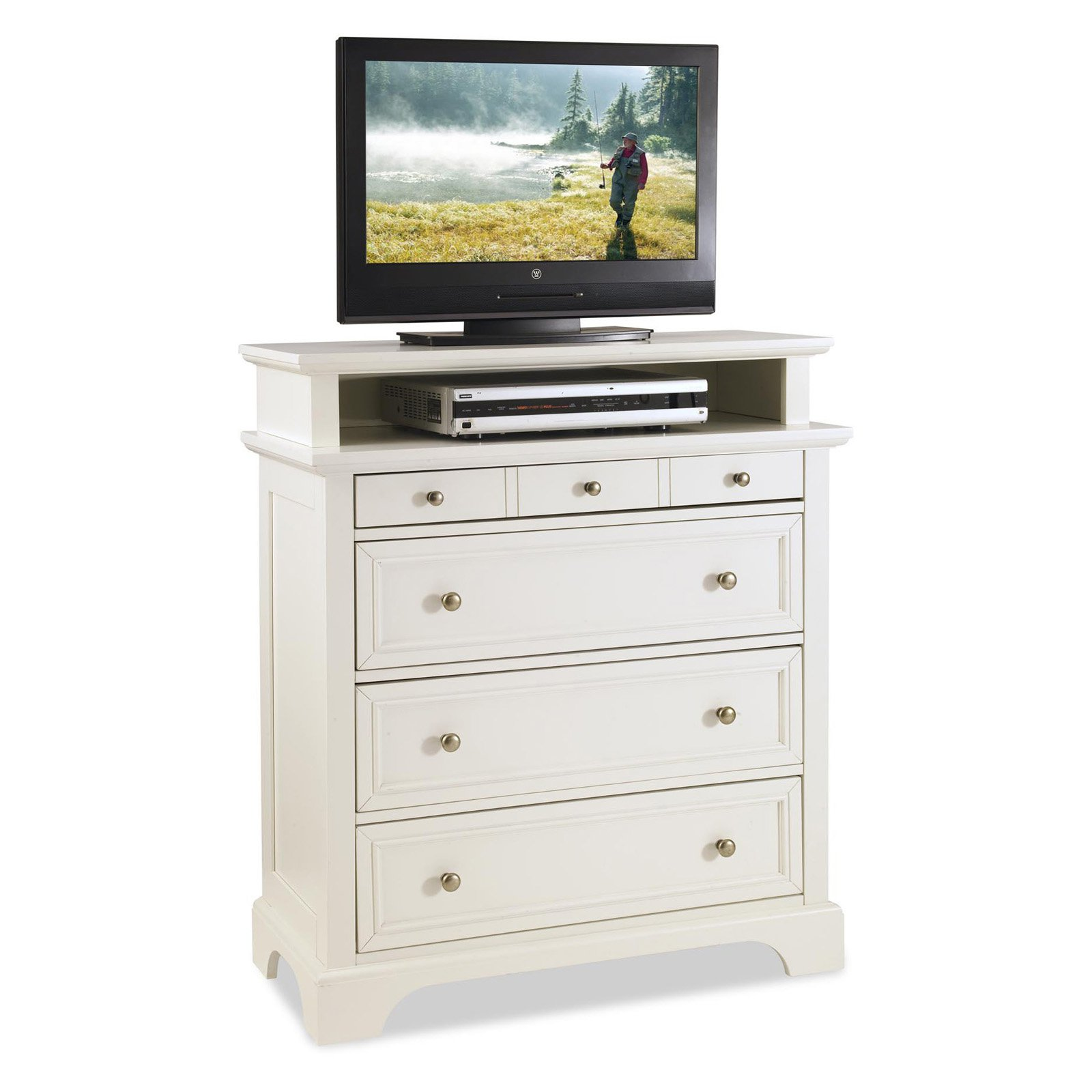 Home Styles Naples 6 Drawer Media Chest - White - Walmart.com