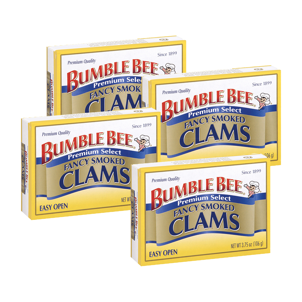 Bumble Bee Fancy Smoked Clams, 3.75 oz Can (4 Packs)