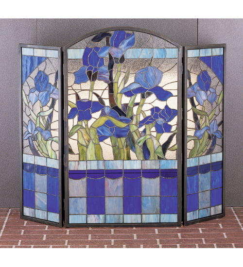 Meyda Tiffany 27236 Stained Glass   Tiffany Fireplace Screen from the Floral Ele by Meyda Tiffany