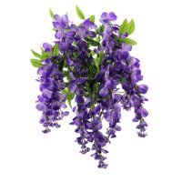 Admired by Nature Artificial Wisteria Hanging Flowers Bush, Lavender
