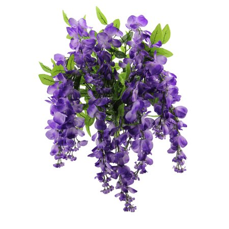 Admired by Nature Artificial Wisteria Hanging Flowers Bush, Lavender - Fake Pink Flowers