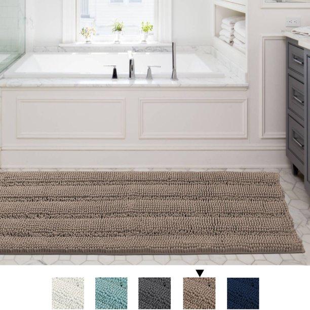 Runner Rug Non Slip Striped Plush Hallway Carpet Entry Rugs