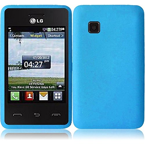 Silicone Skin Case for LG 840G - Sky Blue