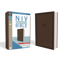 NIV, Value Thinline Bible, Large Print, Imitation Leather, Brown (Hardcover)