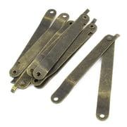 5pcs 98x11mm Furniture Box Rotatable Folding Lid Support Hinge Stay Bronze Tone