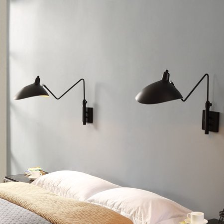 Stainless Steel Ceiling Lamp (Modway View Adjustable-Shade Stainless Steel Wall Lamp in)