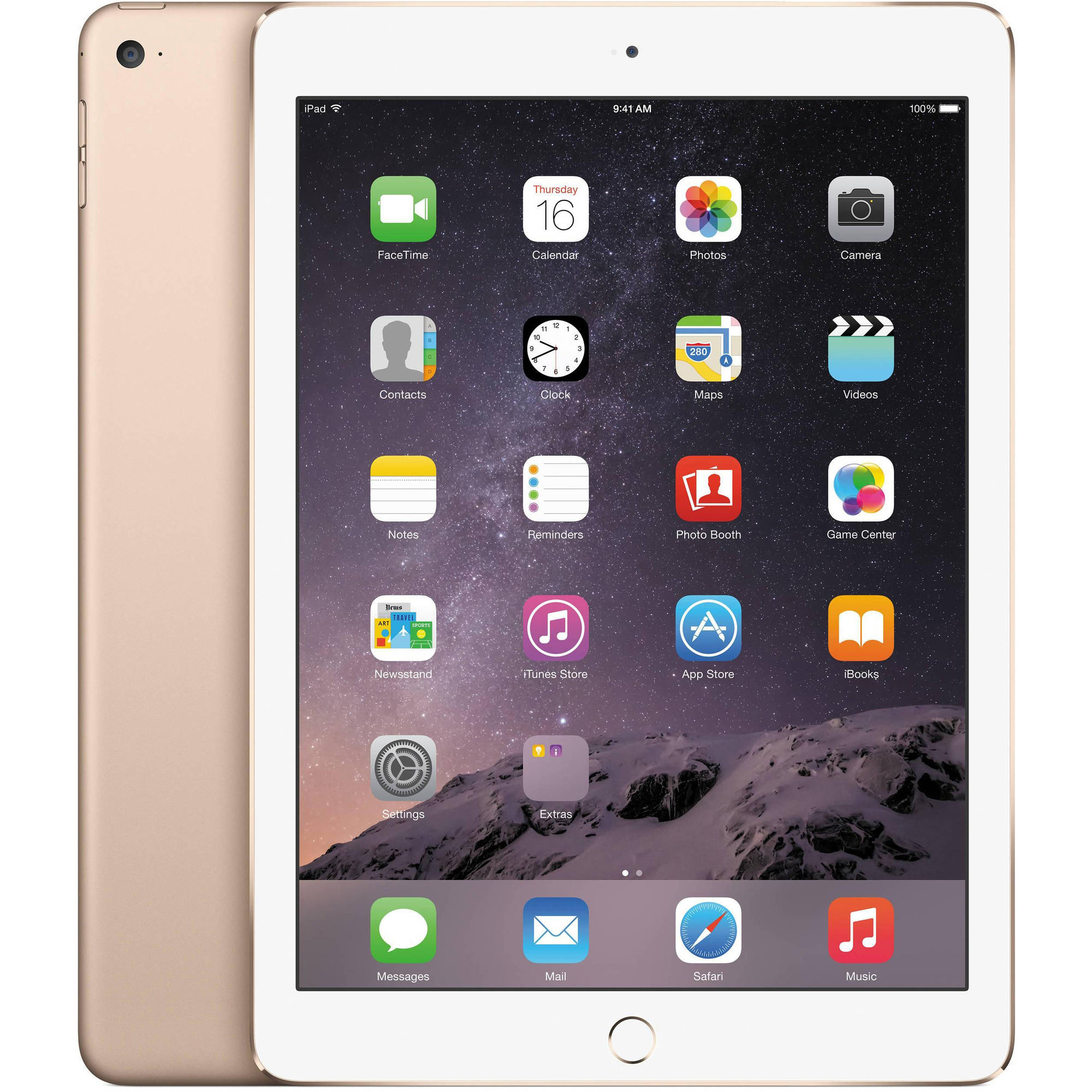 "Certified Refurbished Apple iPad Air 2 with WiFi 9.7"" Touchscreen Tablet Featuring iOS 8.1 Operating System"