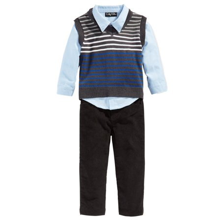 Only Kids Infant Boys 3 Piece Dress Up Outfit Pants Shirt ...