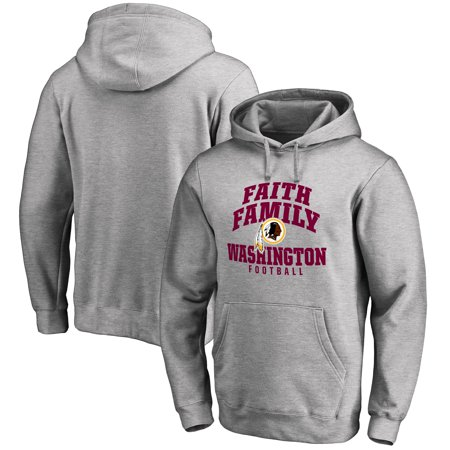 65f0d890 Washington Redskins NFL Pro Line Faith Family Pullover Hoodie - Athletic  Heather
