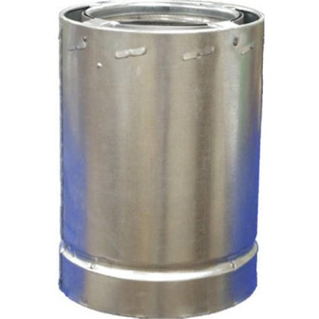 Airjet 6S4 Triple Wall Chimney Pipe, All Fuel, Class A, 6-In.