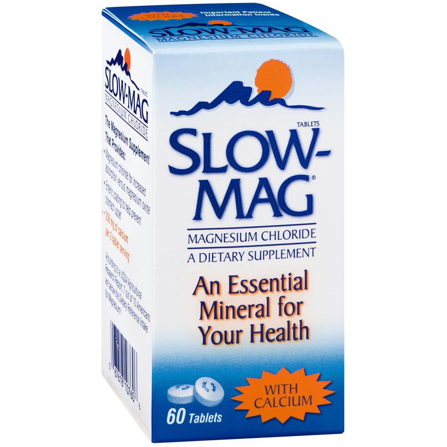 Slow-Mag Magnesium Chloride with Calcium, 60 CT (Pack of 3)