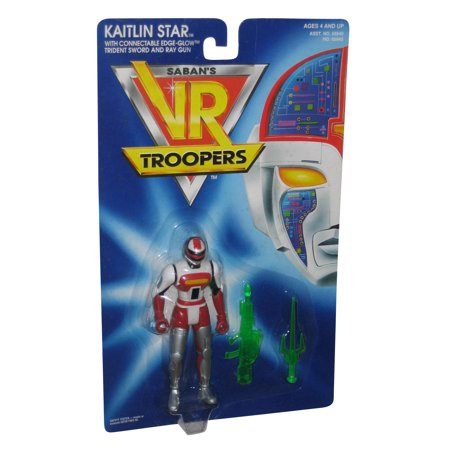 Saban's VR Troopers Kaitlin Star (1994) Kenner Figure w/ Sword & Ray Gun](Toy Swords And Guns)