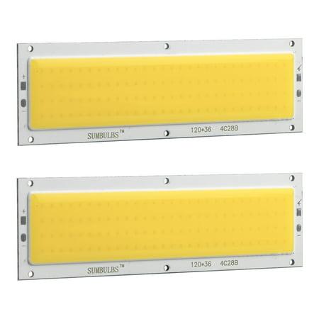 2-pack 12V 10W COB Light Board High Power Lamp Chip Energy-saving High  Brightness for Interior Reading Light Roof Ceiling DIY Headlights