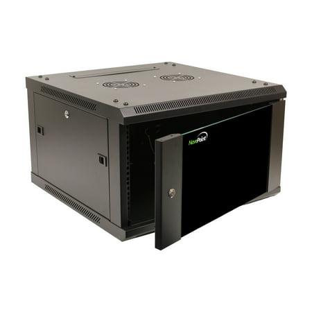 NavePoint 6U Wall Mount Network Server 600mm depth Cabinet Rack Enclosure Glass Door Lock