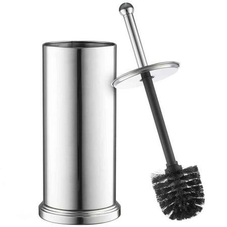 toilet brush set Chrome toilet brush for tall toilet bowl and toilet  brush holder with Lid. toilet brush set Chrome toilet brush for tall toilet bowl and