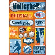 Cardstock Stickers-Volleyball Rocks