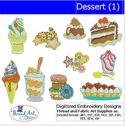 ThreadArt Machine Embroidery Designs Dessert(1) CD