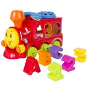 Best Choice Products Bump and Go Action Learning Train Lights and Music Block Letters Shape Sorter