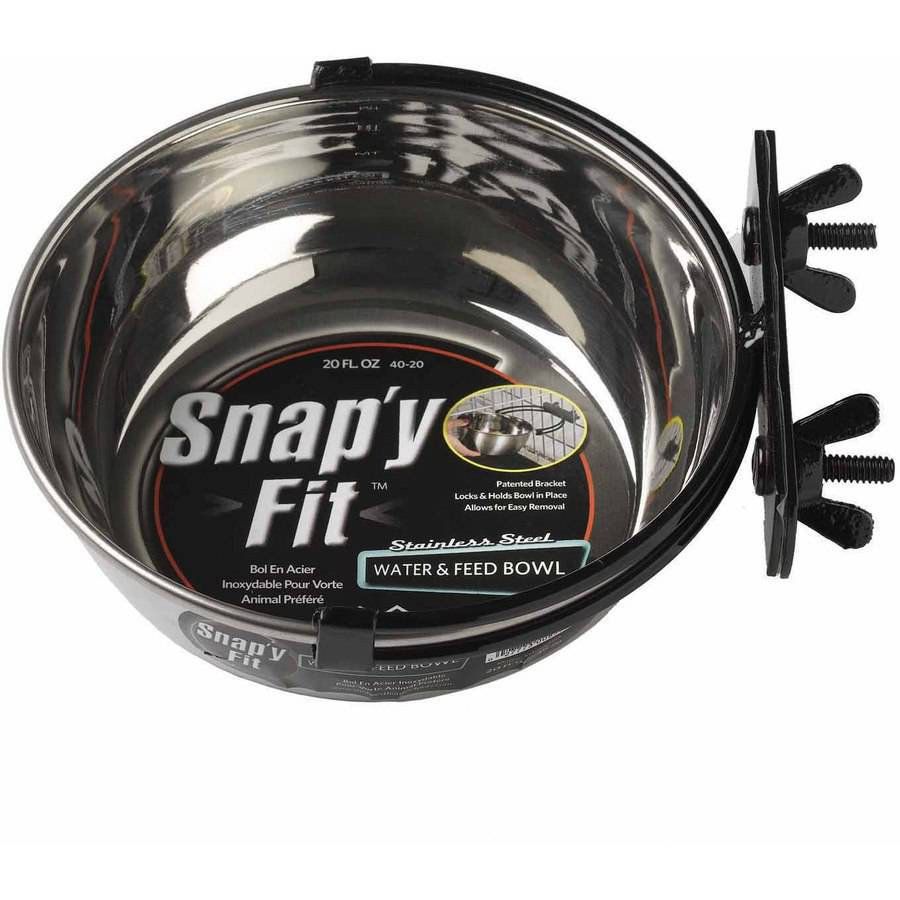 Midwest 20 oz. Snap'y Fit Stainless Steel Bowl