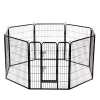 "32"" 8 Panel Folding Metal Dog Exercise Fence Heavy Duty Pet Playpen"