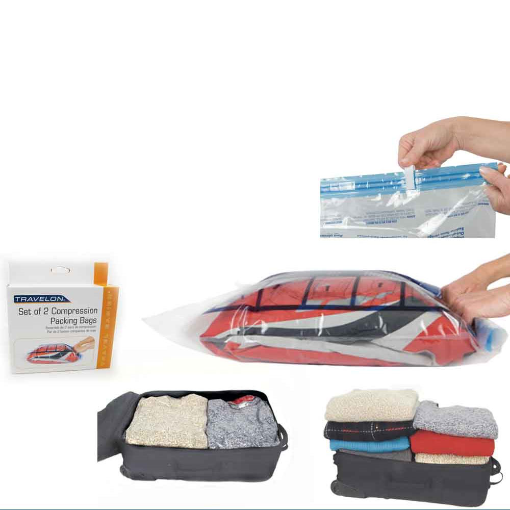 Space Saver 8 x Premium Travel Roll Up Storage Bags for Suitcases FREE SHIPPING!