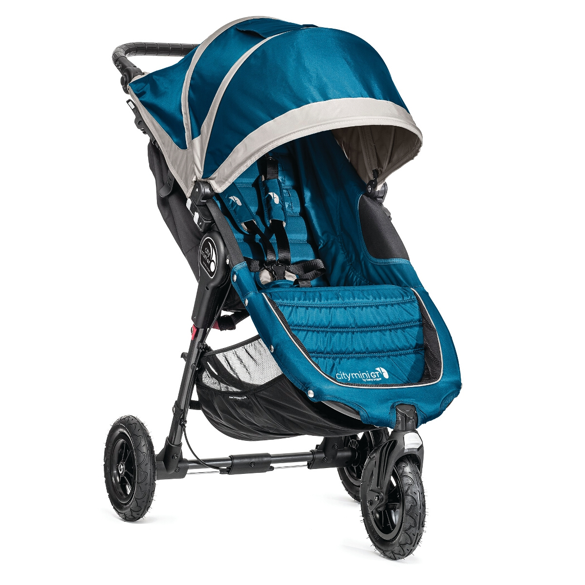 Baby Jogger City Mini GT Single Stroller, Turquoise/Blue (Turq/Aqua)