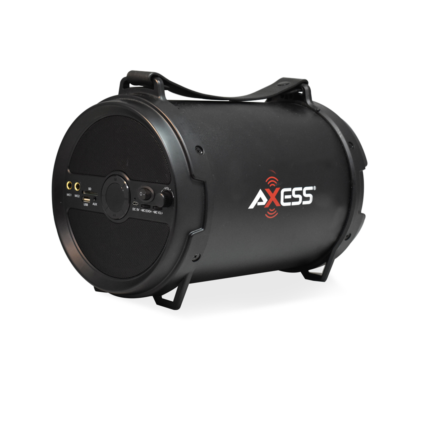 Axxess BT Media Speaker with 6 Inch Speaker and 2 Microphone Inputs in Black