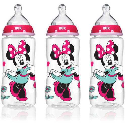 NUK 62048 Disney Baby Bottle with Perfect Fit Nipple, 10 Ounces, Minnie Mouse