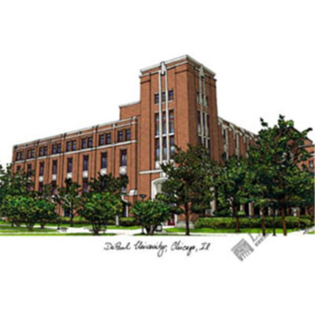DePaul University Campus Images Lithograph Print