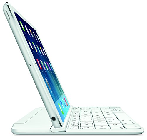 Logitech 920-006260 Ultrathin Magnetic Clip-On Keyboard Cover for iPad Mini & Mini with Retina Display - Silver