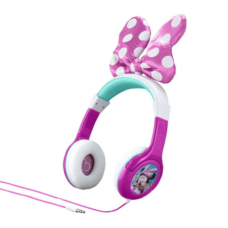Disney Minnie Mouse Bow-tastic Girls Pink Headphones - Minnie Mouse Headphones