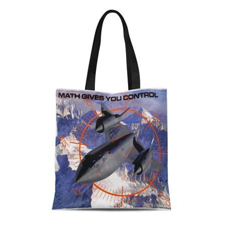 LADDKE Canvas Tote Bag Motivational Math Gives You Blackbird Spy Plane Educational Junior Reusable Handbag Shoulder Grocery Shopping Bags
