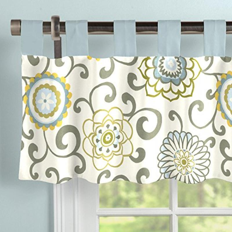 Carousel Designs Spa Pom Pon Play Window Valance Tab-Top by Carousel Designs