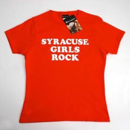 Syracuse Orangemen T-shirt By Champion - Syracuse  Girls Rock - Orange