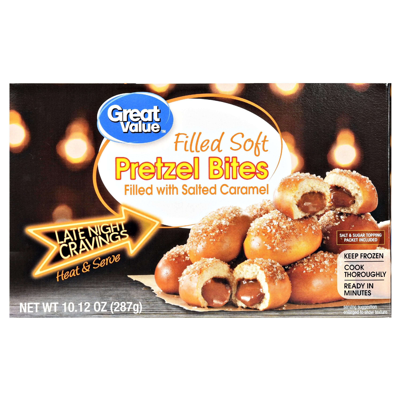 Great Value Frozen Salted Caramel Filled Pretzel Bites, 10.12 oz