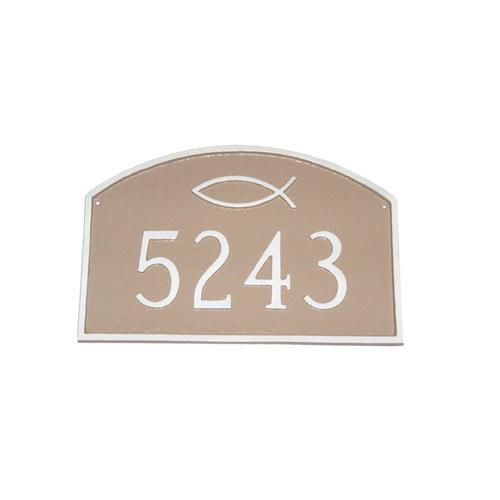 Montague Metal Products Inc. Petite Ichthus Prestige Arch Address Plaque
