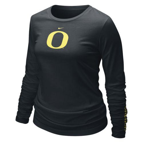 Oregon Ducks Shirt Nike Women's Long Sleeve Logo T Shirt by Nike