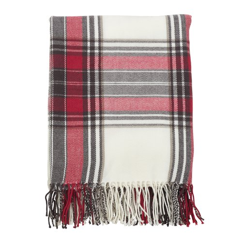 Gracie Oaks Olivera Classic Plaid Design Throw