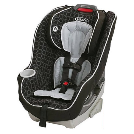 Car Seat Blush (Graco Contender 65 Convertible Car Seat, Black Carbon)