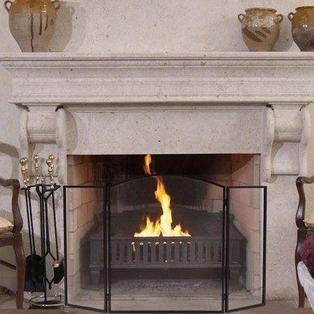 Ktaxon Modern Folding Steel Fireplace Screen Doors 3 Panel Style
